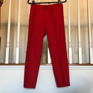 Anthropologie Cartonnier Red Cropped Pants